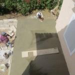 Zwembad in aanbouw